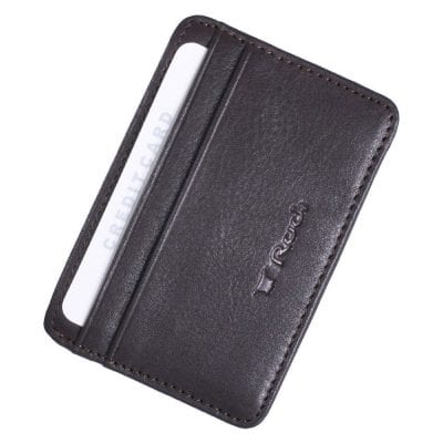 ארנק קטן לכרטיסי אשראי מעור Full Grain | דגם שבתאי צבע חום כהה אשראית