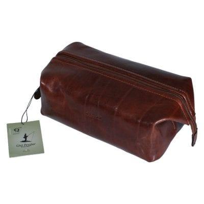 תיק קלאץ' מעור לנשים תוצרת איטליה, משמש גם כתיק רחצה לגברים ונשים דגם 4012