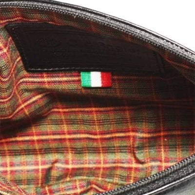 תיק קלאץ' מעור איכותי תוצרת איטליה, נרתיק איפור | דגם 4076