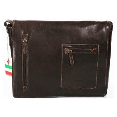 תיק גדול מעור דוורים מסנג'ר עסקים, עבודה, מנהלים  כולל תא מרופד ללפטופ  תוצרת איטליה 736