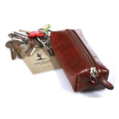 מחזיק מפתחות יוקרתי מעור ברידג' איכותי דגם 5577