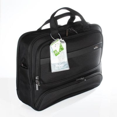 תיק עסקים מבד עם רצועה מותאמת לחיבור למזוודה – כולל תא מרופד ללפטופ, מיועד לאנשי עסקים VERAGE דגם 13020-18.5