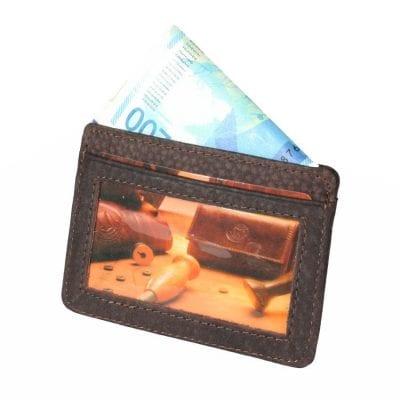 יברכך השם וישמרך ארנק דק לכרטיסי אשראי מעור עם הטבעה  דגם P1483