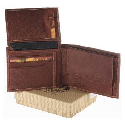 """""""מבצע מטורף וחד פעמי"""" מתנה לגבר שלך ארנק מעור אמיתי לגבר (עור תוצרת איטליה) דגם 1604064"""