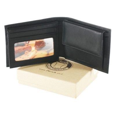 ארנק שחור מעור לגבר (עור תוצרת איטליה) דגם 1604065