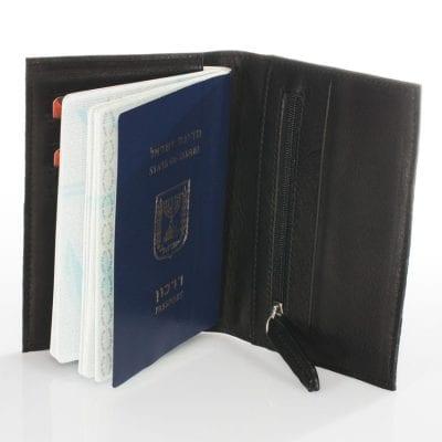 ארנק לפספורט מעוצב מעור אמיתי ואיכותי תוצרת איטליה,מתאים לכל סוגי הדרכונים דגם 90365