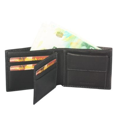 Men's leather wallet Highest quality item 16041 the leather made in Italy