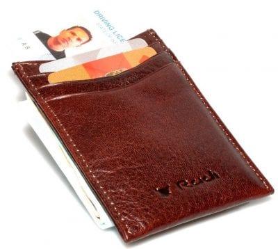 Money Clip עם מגנט החזק בעולם מעור ברידג' איטלקי דגם 105 – רעיון למתנות ניתן להטביע עד 4 מילים בלבד