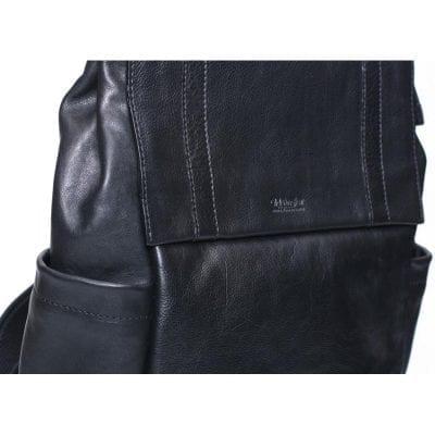 תיק גב מעור נאפה רך איכותי כולל כיסים, ותא ללפטופ, מהמם, מנדף זעה, ומותאם לגוף | דגם 308