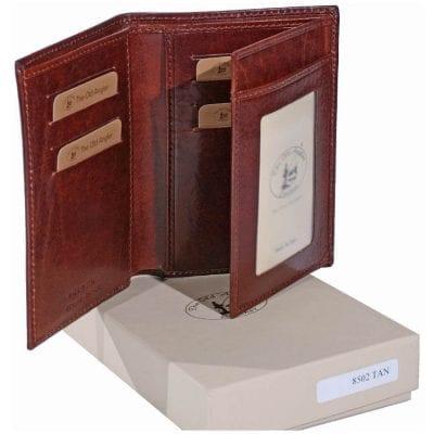 ארנק לפספורט נרתיק לדרכון מעור לאנשי עסקים תוצרת איטליה דגם 8502