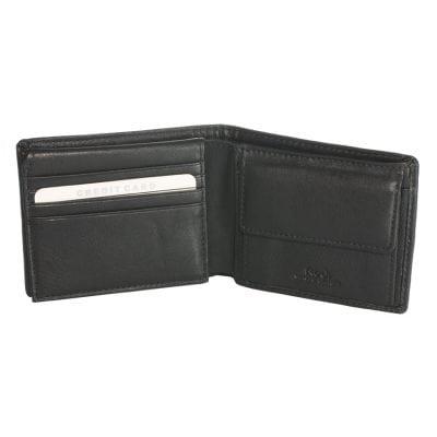 ארנק לגבר מעור שחור נאפה איטלקי אמיתי הטוב בעולם | דגם 3807 כולל כיס למטבעות הדפסה בארנק