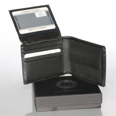 ארנק מעור בצבע שחור נאפה איטלקי אמיתי הטוב בעולם | דגם 3807