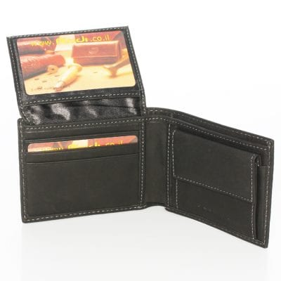 Italian leather men's wallet in small medium sized item 70411