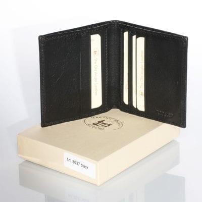 ארנק שחור דק וקטן מעור הטוב בעולם תוצרת איטליה Full Grain Leather דגם 8037