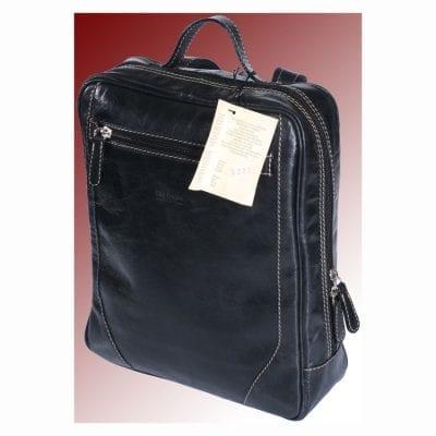 תיק עור לגב כולל תא פנימי מרופד ללפטופ תוצרת איטליה דגם 4052