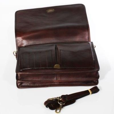 תיק עור למנהלים תוצרת איטליה מעור ברידג' תיק יפהפה – דגם 184