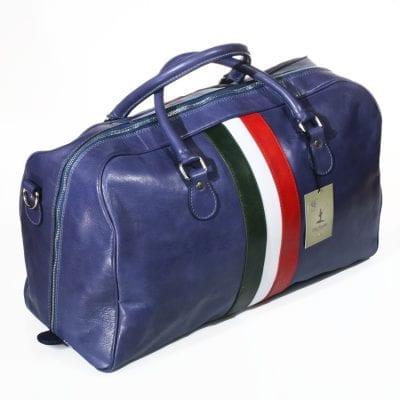 תיק עור יוקרתי לנסיעות תוצרת איטליה, תקן עליה למטוס מעור אמיתי מסוג ברידג' דגם 4048