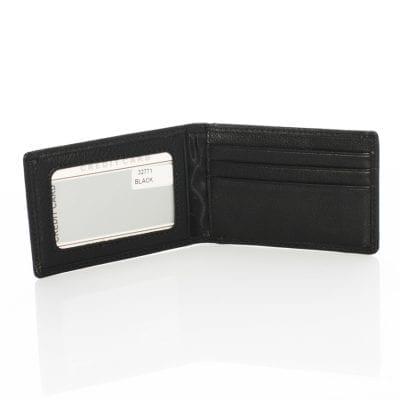 נרתיק קטן לכרטיסי אשראי מעור, במוצר זה ניתן להטביע עד 2 שורות בלבד