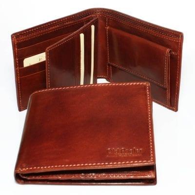 ארנק גדול לגבר – ארנק גבר לכיס גדול תוצרת איטליה עור ברידג' מקורי Bridge דגם 8029