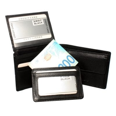 סט ארנק מעור נאפה איטלקי + ארנקון קטן RM3807