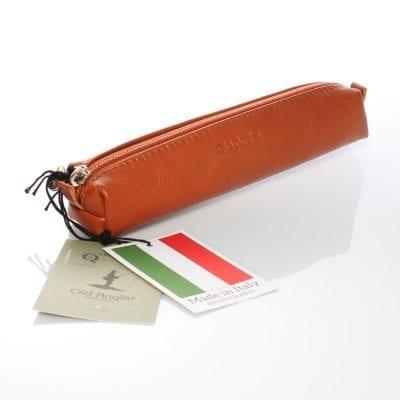 נרתיק לעטים / קלמר עם רוכסן, עשוי מעור אמיתי תוצרת איטליה – דגם 5085