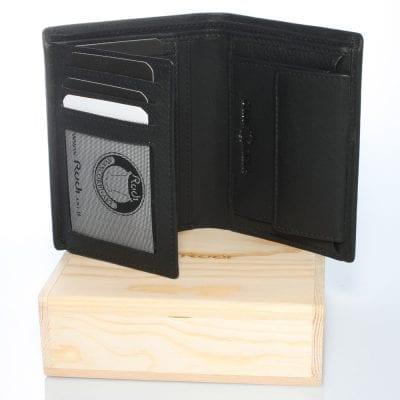 דגם בילי ספר גדול | ארנק מעור נאפה איטלקי שחור | מתנה לגבר