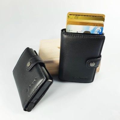 מיטשל כולל רוכסן עור איטלקי, מנגנון לשליפת כרטיסים – RFID Blocking *