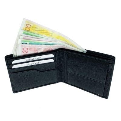 דגם מנהטן   ארנק מעור נאפה איטלקי שחור wallets