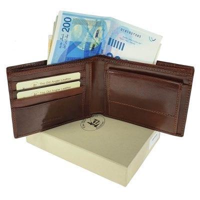 ארנק גדול לגבר – תוצרת איטליה עור ברידג' מקורי Bridge, בדגם זה ניתן להטביע עד 2 שורות