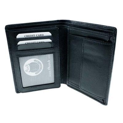 דגם ספר גדול | ארנק מעור נאפה איטלקי שחור | מתנה לגבר גריין