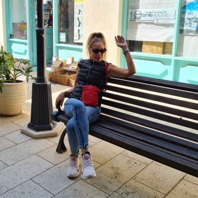 קליפורניה, תיק צד קומפקטי לנשים מעור נאפה איטלקי אמיתי RFID Blocking * אדום