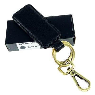 מחזיק מפתחות מעור דגם בוס, ניתן להטביע שורה אחת בלבד שחור