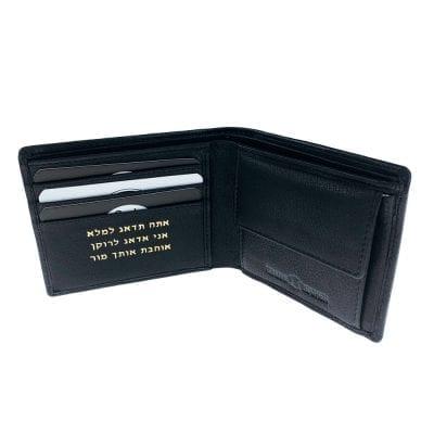 דגם גריין | ארנק מעור אמיתי | מתנה לגבר צבע שחור בדגם זה רק 3 תאים לכרטיסי אשראי