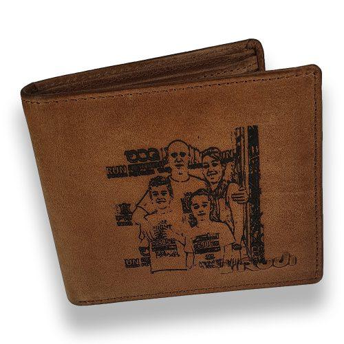 ארנק עם חריטת תמונה בלייזר